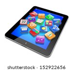 tablet pc computer with... | Shutterstock . vector #152922656