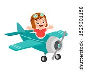 Happy Boy Kid Play Toy Fly Plane