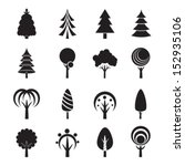abstract tree icons. vector... | Shutterstock .eps vector #152935106