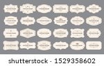 ornamental label frames. old... | Shutterstock .eps vector #1529358602