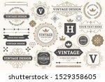 vintage sign frames. old... | Shutterstock .eps vector #1529358605