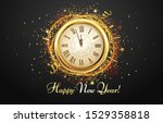 new year countdown watch.... | Shutterstock .eps vector #1529358818