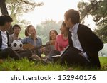 teenagers hanging out in the... | Shutterstock . vector #152940176