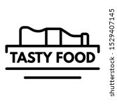 tasty food logo. outline tasty... | Shutterstock .eps vector #1529407145