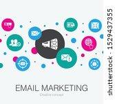 email marketing trendy circle...
