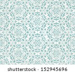 floral retro wallpaper with... | Shutterstock .eps vector #152945696