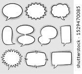 set of comic speech bubbles.... | Shutterstock .eps vector #1529470085