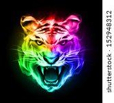 head of tiger blazing in... | Shutterstock .eps vector #152948312