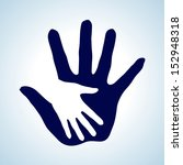 white and blue  illustration of ... | Shutterstock .eps vector #152948318
