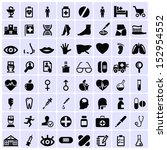 medicine symbols icons | Shutterstock .eps vector #152954552