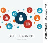 self learning trendy circle...