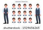 set of male character's facial... | Shutterstock .eps vector #1529656265