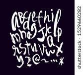 dry brush alphabet font set... | Shutterstock .eps vector #1529660282