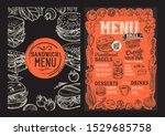 bagel and sandwich menu... | Shutterstock .eps vector #1529685758