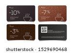 coffee discount coupon voucher...   Shutterstock .eps vector #1529690468