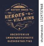 font heroes   villains. craft... | Shutterstock .eps vector #1529737868