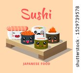 Sushi Bar Food Logo. Japanese...