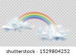 rainbow icon isolated on... | Shutterstock .eps vector #1529804252
