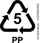 recycling symbols number 5 pp ... | Shutterstock .eps vector #1529804402