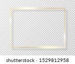 golden frame with light effect. ... | Shutterstock .eps vector #1529812958