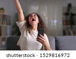 Excited Woman Celebrating...