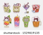 vector cat stickers.... | Shutterstock .eps vector #1529819135