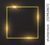golden frame with light effect  ... | Shutterstock .eps vector #1529828672