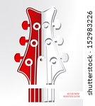 vector paper headstock guitar.   Shutterstock .eps vector #152983226