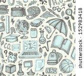 back to school seamless doodle... | Shutterstock .eps vector #152983418