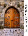 Beautiful Old Wooden Door With...