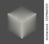 abstract cube logo. halftone... | Shutterstock .eps vector #1529860325
