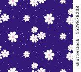 white daisy on blue background... | Shutterstock .eps vector #1529878238