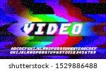 glitch error vhs vector phrase... | Shutterstock .eps vector #1529886488