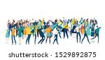 large group of people. crowd ... | Shutterstock .eps vector #1529892875