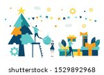 business people decorate... | Shutterstock .eps vector #1529892968