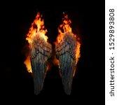 Burning Angel Wings  Dark...
