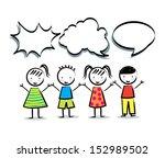 kids icons over white... | Shutterstock .eps vector #152989502