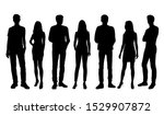 vector silhouettes of  men and... | Shutterstock .eps vector #1529907872