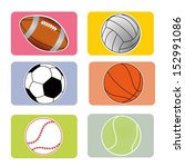 sports ball on squares with... | Shutterstock .eps vector #152991086