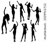set of women standing and... | Shutterstock .eps vector #1529911712
