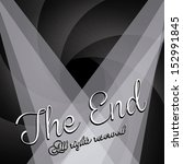 the end label over black... | Shutterstock .eps vector #152991845