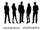 vector silhouettes of people  ... | Shutterstock .eps vector #1529918945