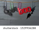 Halloween bats  spider and red