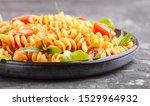 fusilli pasta with tomato sauce ... | Shutterstock . vector #1529964932
