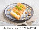 baklava  traditional arabic... | Shutterstock . vector #1529964938