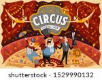 welcome to the circus  vector...   Shutterstock .eps vector #1529990132