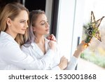 young embracing sensual... | Shutterstock . vector #1530001868