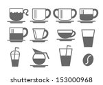 coffee cup icon on white... | Shutterstock .eps vector #153000968