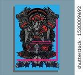 brochure template flyer... | Shutterstock .eps vector #1530009692