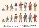 human growth stage character.... | Shutterstock .eps vector #1530045962
